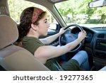 Teen Driver Looking Both Ways...