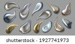 liquid metal. realistic 3d... | Shutterstock .eps vector #1927741973