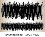 cheering audiences | Shutterstock . vector #19277437