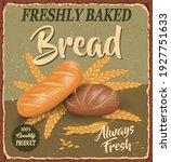 vintage baked bread metal sign...   Shutterstock .eps vector #1927751633