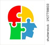 colorful simple head puzzle... | Shutterstock .eps vector #1927758833