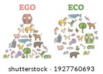 ego eco thinking comparison as...   Shutterstock .eps vector #1927760693