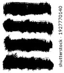 set of vector brush strokes.... | Shutterstock .eps vector #1927770140
