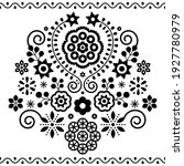 polish folk art vector design... | Shutterstock .eps vector #1927780979