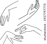 line art hand. hand drawn... | Shutterstock .eps vector #1927797773