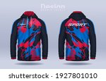 hoodie shirts template.jacket... | Shutterstock .eps vector #1927801010