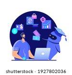 financial literacy education  e ... | Shutterstock .eps vector #1927802036
