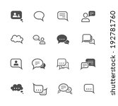 chat message speech talk text...