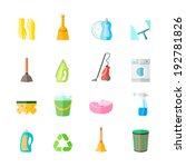 cleaning housework equipment... | Shutterstock . vector #192781826