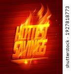 hottest savings sale vector... | Shutterstock .eps vector #1927818773
