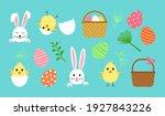 Easter Vector Set  Cute Spring...