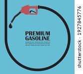 gasoline fuel pump nozzle... | Shutterstock .eps vector #1927845776