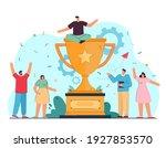 tiny corporative winners... | Shutterstock .eps vector #1927853570