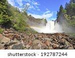 Snoqualmie waterfall. Washington state - stock photo