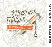 knight historical club badge... | Shutterstock .eps vector #1927875050