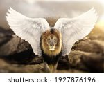 Lion With Wings Standing On A...