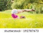 cute young woman exercising in... | Shutterstock . vector #192787673