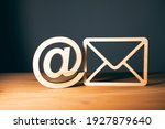 Wooden Letter With Email Sign...
