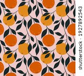 orange colorful seamless... | Shutterstock .eps vector #1927892543
