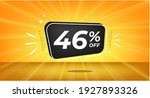 46  off. yellow banner with... | Shutterstock .eps vector #1927893326
