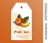 Peach Jam Label  Sticker For...