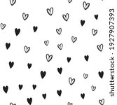 hand drawn doodle hearts... | Shutterstock .eps vector #1927907393