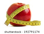 red apple and measuring tape... | Shutterstock . vector #192791174