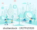 communication in big city.... | Shutterstock .eps vector #1927915520