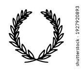 laurel wreath. vector hand...   Shutterstock .eps vector #1927920893