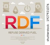rdf mean  refuse derived fuel ... | Shutterstock .eps vector #1927921076