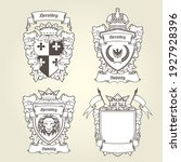 coat of arms templates ... | Shutterstock .eps vector #1927928396