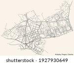 black simple detailed street...   Shutterstock .eps vector #1927930649