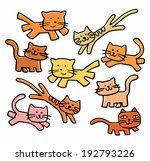 set of cute cats    Shutterstock .eps vector #192793226