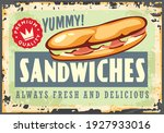 snack bar banner sign with tuna ... | Shutterstock .eps vector #1927933016