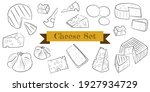 cheese flat line icons set.... | Shutterstock .eps vector #1927934729