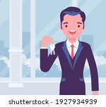 happy smiling commercial real... | Shutterstock .eps vector #1927934939