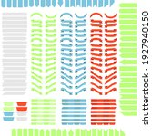 large set of blue red and green ... | Shutterstock .eps vector #1927940150