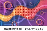 bright colorful memphis style... | Shutterstock .eps vector #1927941956