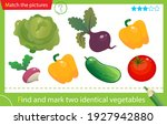 find and mark two identical... | Shutterstock .eps vector #1927942880
