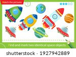find and mark two identical... | Shutterstock .eps vector #1927942889