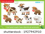 find and mark two identical... | Shutterstock .eps vector #1927942910