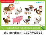 find and mark two identical... | Shutterstock .eps vector #1927942913