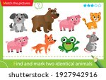 find and mark two identical... | Shutterstock .eps vector #1927942916