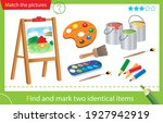 find and mark two identical... | Shutterstock .eps vector #1927942919