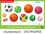 find and mark two identical... | Shutterstock .eps vector #1927942943
