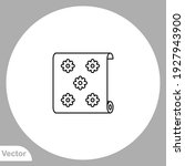 wallpaper icon sign vector... | Shutterstock .eps vector #1927943900