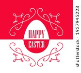 happy easter   greeting card...   Shutterstock .eps vector #1927945223
