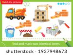 find and mark two identical... | Shutterstock .eps vector #1927948673