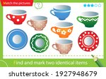 find and mark two identical... | Shutterstock .eps vector #1927948679