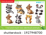 find and mark two identical... | Shutterstock .eps vector #1927948700